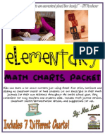 Elementary Math Charts Packet