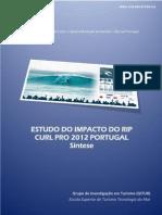 Relatório sintese RCP2012
