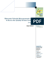 Ultrasonic Velocity Measurements