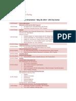 2013 MAT New Student Orientation Schedule
