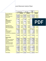 Financial Statement Analysis Paper Example