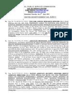 Fpsc Advt No 5-2011
