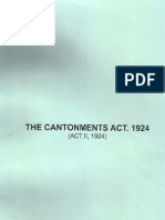 Cantonments Act 1924