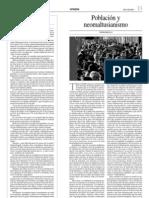 Población y neomaltusianismo (1)