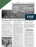 Proclaman Beato a Juan Pablo II