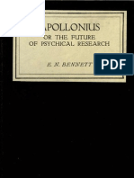 Bennet, Ernest - Apollonius; Or, The Present and Future of Psychical Research (19--_)