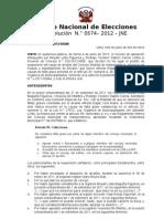 Resolucion 574-2012-jne