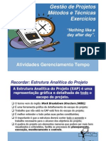 Gestão de Projetos  Métodos e Técnicas - Exercícios