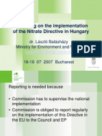 Reporting on the Implementation of the Nitrate Directive in Hungary - Ministry of Environment and Water,
