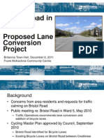 2011 Britannia Town Hall Bicycle Lanes Presentation