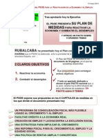 Plan Reactivacion Economía PSOE