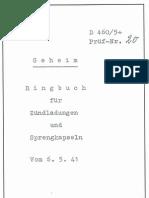 D.460-5+ Ringbuch für Zündladungen und Sprengkapseln - 06.05.1941