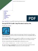 Decrypt HTTPS