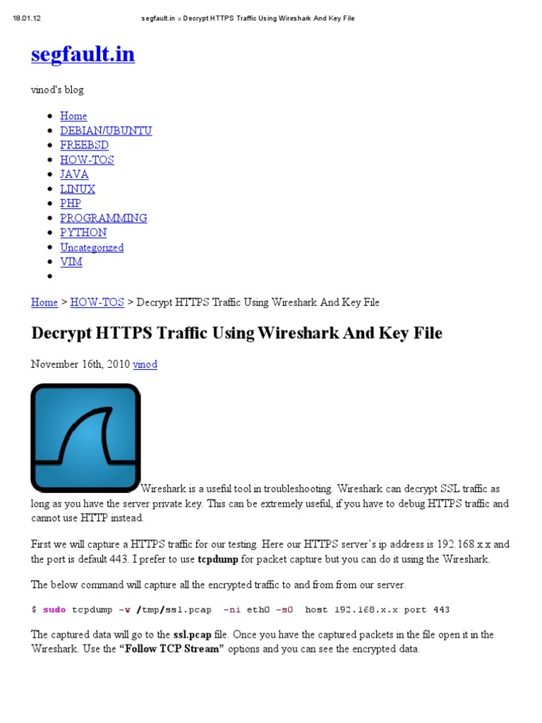 Decrypt HTTPS | Transport Layer Security | Gmail