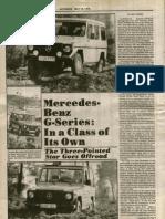 1979 Autoweek Mercedes G Series