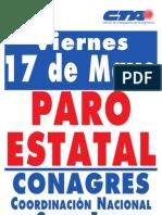 Afiche Paro Estatal