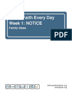 Sticky Faith Family Ideas