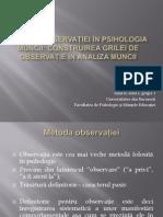 Metoda observației în psihologia muncii
