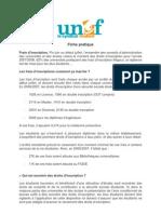 Fiche Pratique Frais d'Inscription Avril 07