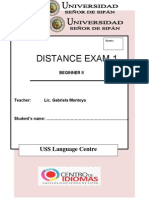 1st Distance Exam Beg 2