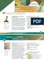 [0128] Acumen Consulting Brochure