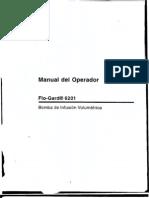 Manual Bomba de Infusion Baxter Fluogard 6220