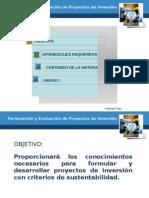 1.1 Origen de los Proyectos, 1.2 Estudios de inversión.