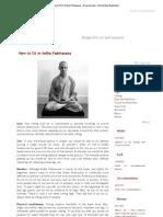 How to Sit in Ardha Padmasana