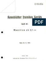 D.50-8b Kennblätter fremden Geräts Munition ab 3,7 cm - 12.05.1941