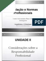 Legislacao e Normas - Unidade III - Consideracoes Sobre Responsabilidade