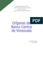 Trabajo Banco Central de Venezuela