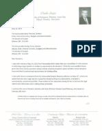 Charlie Angus letter to senators