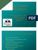Most Common Deficiencies