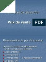 Calculs Prix