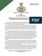 Press Release Concerning DEP Changes (CCAP)