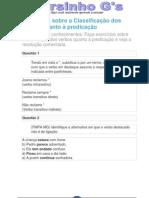 Exercícios sobre a Classificação dos verbos quanto à predicação
