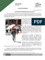 22/03/11 Germán Tenorio Vasconcelos INICIÓ SSO ACCIONES DE TEMPORADA DE CALOR 2011