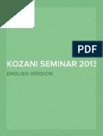 Prospectus Seminar 2013 English
