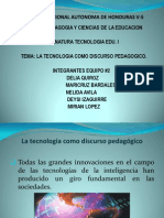 Presentacion de Tecnologia Discurso Pedagogico
