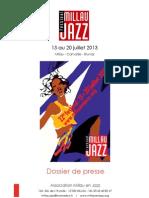 Millau Jazz 2013 press release