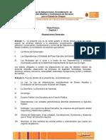 Ley de Adquisiciones, Arrendamiento de Bienes Muebles y Contratacion de Servicios Para El Estado de Chiapas