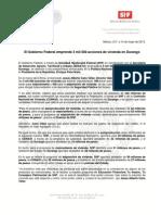 14-05-13 EL GOBIERNO FEDERAL EMPRENDE 3 MIL 500 ACCIONES DE VIVIENDA EN DURANGO