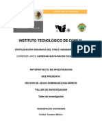 TITULO Aplicacion Organica en Chile Habanero
