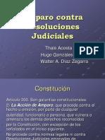 Amparo Contra Resoluciones Judiciales