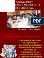 Las Innovaciones Pedagógicas en mejora de la Calidad Educativa
