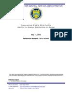 Treasury OIG Report on IRS Targeting Tea Party Groups