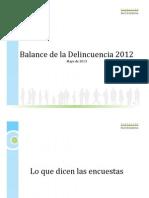 Balance Delincuencia 2012 Fundación Paz Ciudadana