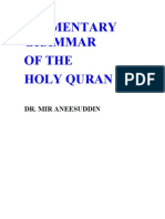 Elementary Grammar of the Holy Quran-Dr Mir Aneesuddin