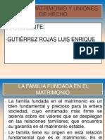 Diapositivas de La Familia, Matrimonio y Uniones de Hecho