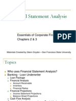 1 Financial Statement Analysis